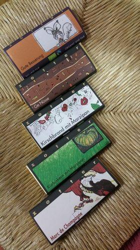 Auswahl an Schokolade